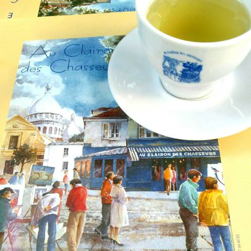 Green sencha in Montmartre